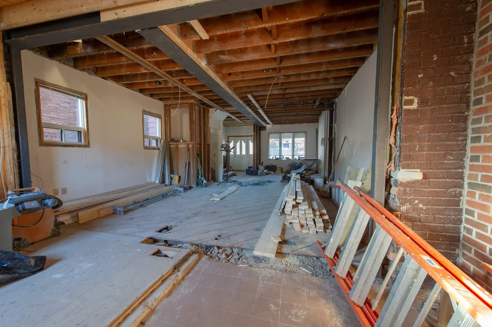 Renovations at a residential house