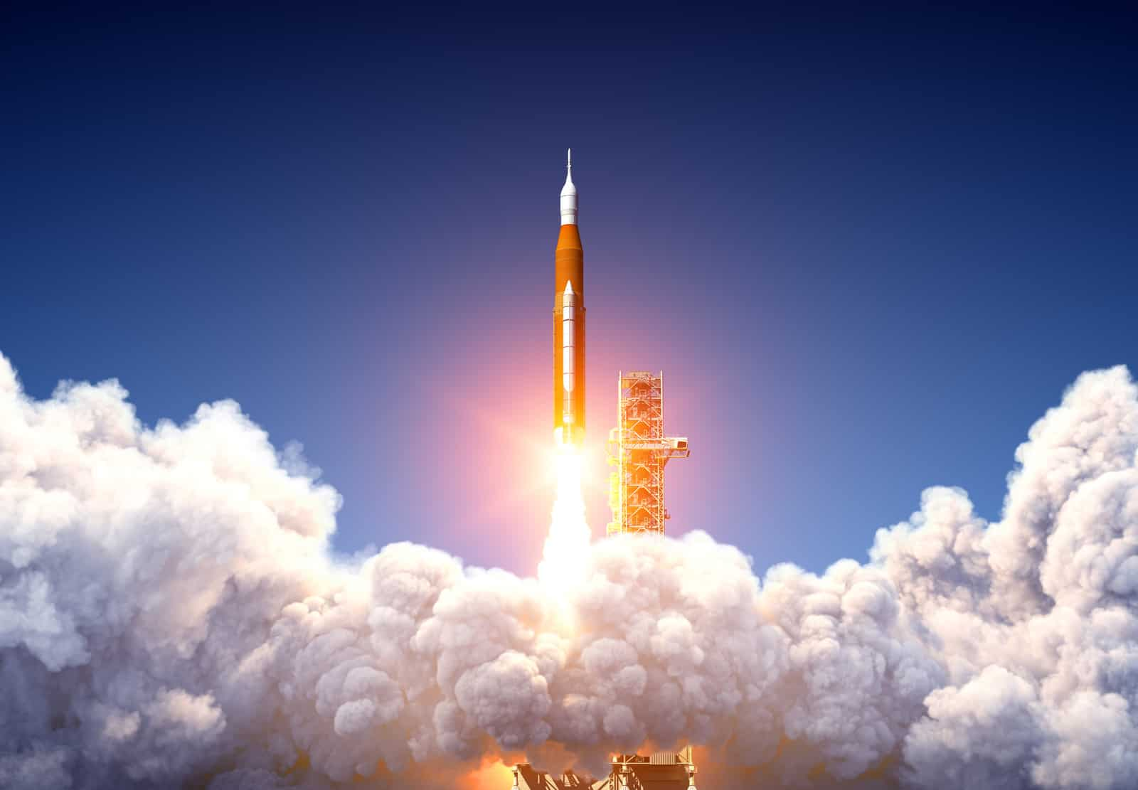 Big Heavy Rocket Space Launch System Launch